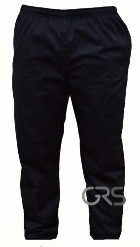 Chef Pantalones Plain Black Pantalones de chef uniforme Cintura Elástica Unisex Bolsillos