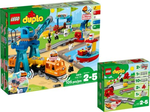 LEGO DUPLO 10875 10882 train de marchandises Cargo Train Chemin de fer rails Set n9/18