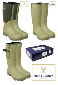 Hengrave-Mens-Neoprene-Zipped-Gusset-Wellington-Country-Green-Boots-Wellies-6-12
