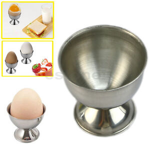 Stainless Steel Soft Boiled Egg Cups Egg Holder Tabletop