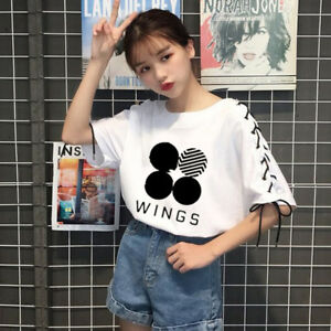 KPOP-BTS-Wings-Tie-T-shirt-Bangtan-Boys-Jung-Kook-Tshirt-Short-Sleeve-Jimin-Jin
