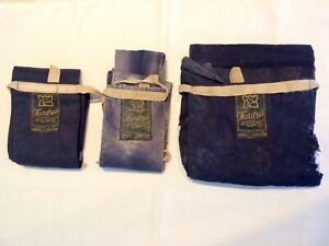 Collection-of-Three-Vintage-Hardys-2-amp-3-Piece-Fishing-Rod-Bags-inc-Fly-Rods