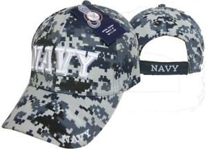 669f966b22b13 États-unis Marine Bleu Acu Camouflage Camo Casquette Nwu 3-D Brodé ...