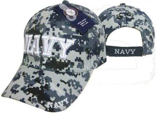 US Navy Blue ACU Camouflage Camo Cap NWU 3-D Embroidered Cap CAP602DC Hat