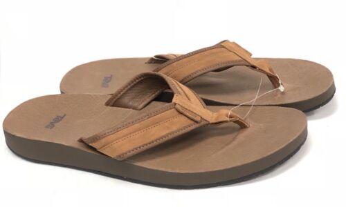 Teva Azure Flip Leather Brown 1015131 Men/'s Shoes Sandals Flip Flops Shoes