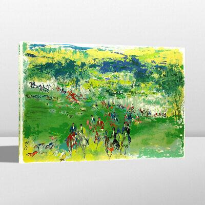 HD Oil Painting Modern Art Print LeRoy Neiman Doubles Room Decor on Canvas 24x32