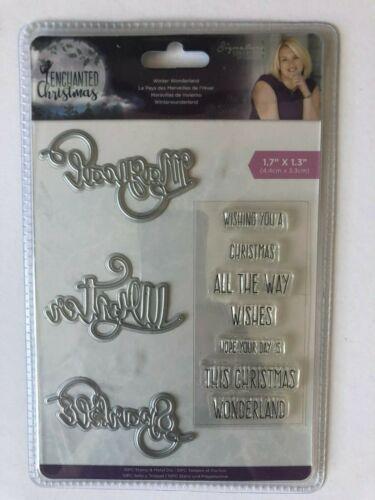 WINTER WONDERLAND Enchanted Christmas Collection Sara Davie Stamp /& Die