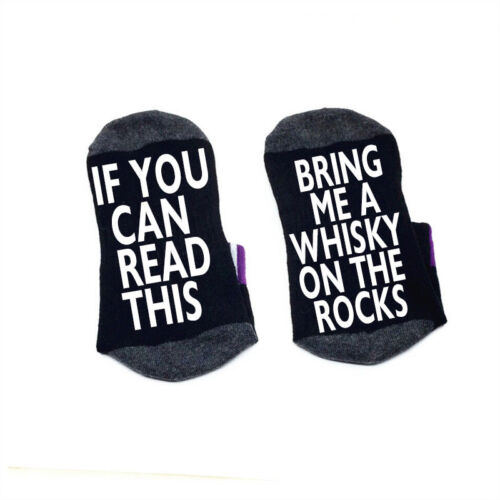If you can read this bring me a Whisky on the Rocks socks cotton elastic socks