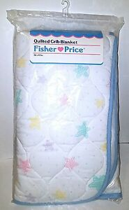 New in package Original Vintage 1991 Fisher Price Baby Crib Blanket Quilt RARE!