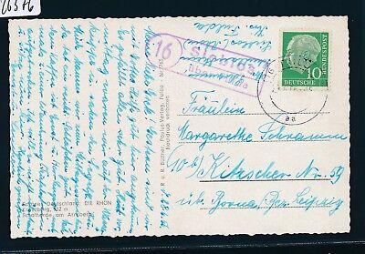Landpost Ra2 16 Sieblos über Fulda Karte 1956 ZuverläSsige Leistung Sammlung Hier 26376