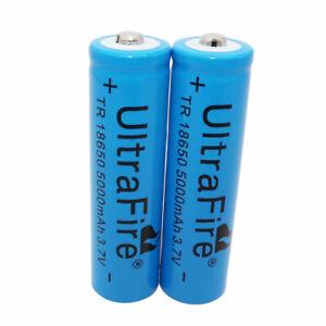 2X-18650-Battery-3-7V-5000mAh-Li-ion-Rechargeable-for-Flashlight-Torch-Headlamp