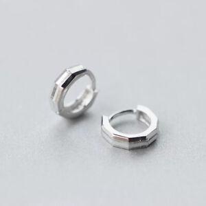 Genuine-925-Sterling-Silver-Solid-10mm-Hoop-Ring-Sleeper-Earrings-Ear-Piercing