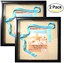 """miniature 1 - (2-Pack) 12x12"""" Black Shadow Box Frame with Linen Background with 8 Stick Pins"""