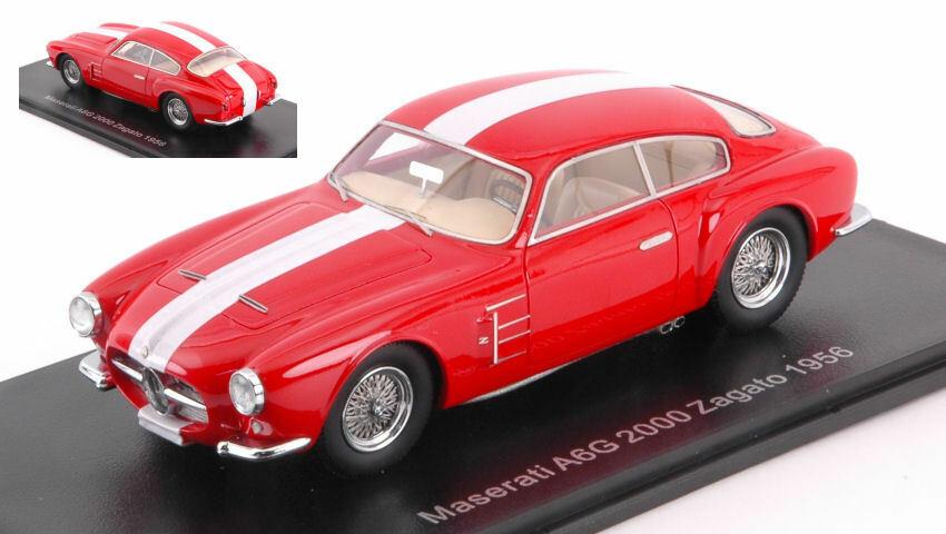 Maserati Ag6 2000 Zagato 1954 rouge 1 43 Model NEO SCALE MODELS