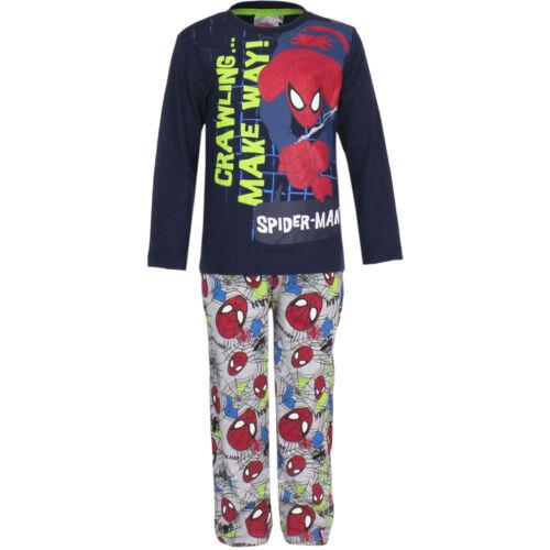 Pyjama Set SONNO TUTA RAGAZZO MARVEL SPIDERMAN rosso grigio blu 98 104 116 128 #46