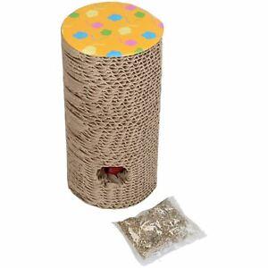 Claw-039-N-039-Roll-Scratch-Pad-Cat-Scratcher-Interactive-Toy-With-Catnip-9x18-5cm