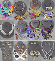 100 Pc (50 Sets) Wholesale Lot Costume / Fashion Jewelry Necklace Earrings