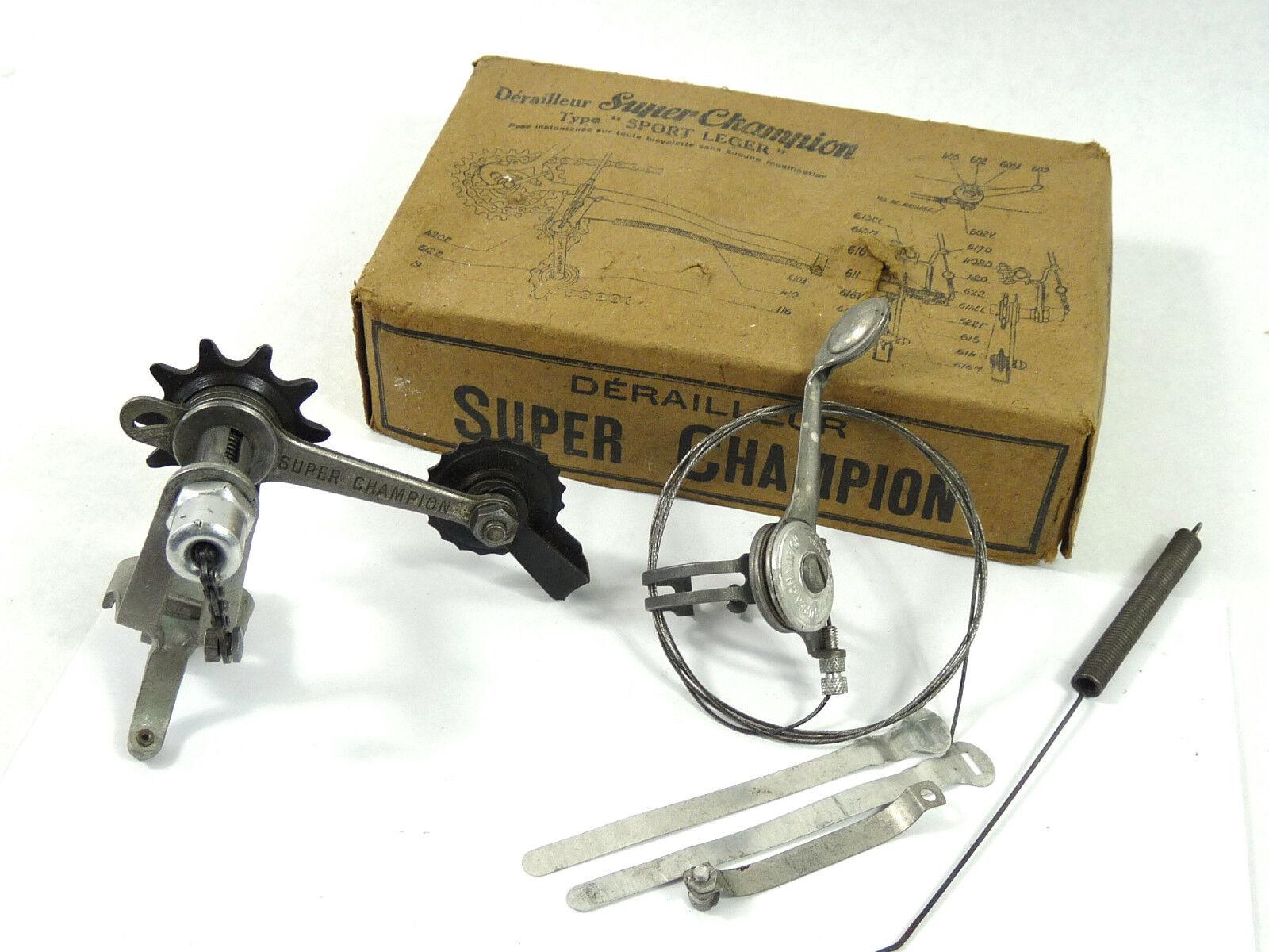 Super Champion Derailleur Sport Leger W Shifter & Cable 1940'S Vintage Bike NOS