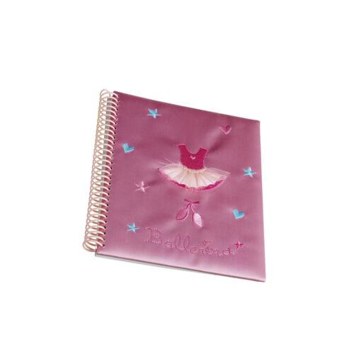 Girls Pink Satin Ballet Notebook Christmas Birthday Gift By Katz NB-7537