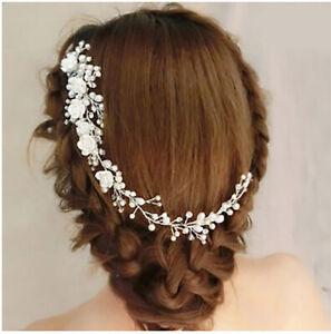 Silver-Bridal-Wedding-Hair-Accessories-Clipin-Pin-Long-Hair-jewellery-Bridesmaid