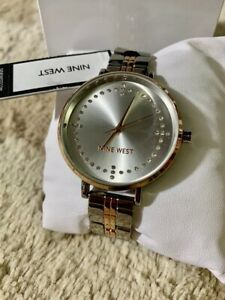 Nine-West-NW2369SVRT-Two-Tone-Stainless-Steel-Bracelet-Ladies-Watch