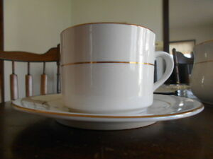 Classic Gold? Elegance? Cup & Saucer Set (s) Gibson Fine China White ...