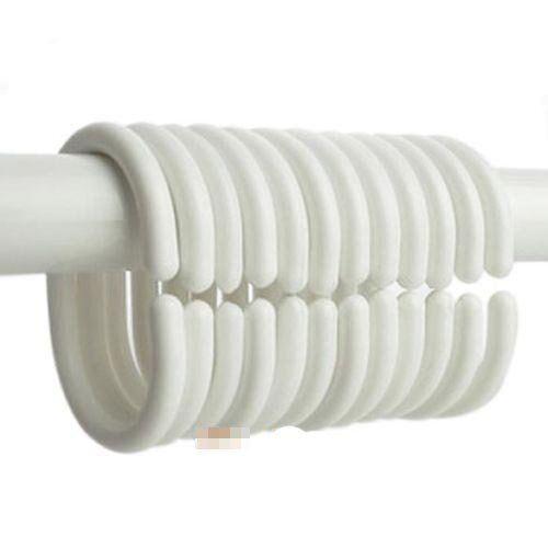 """72/"""" x 72/"""" Waterproof Silk~y Fabric Shower Curtain Stripe Solid Grommet 12 Rings"""
