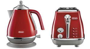 Delonghi-CTOC2003R-KBOC2001R-Icona-Capitals-2-Slice-Toaster-Kettle-PACK-Red