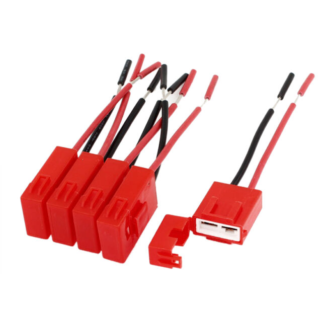 5 Pcs Red Plastic Coated Auto Car ATC Blade Inline Fuse Holder HY