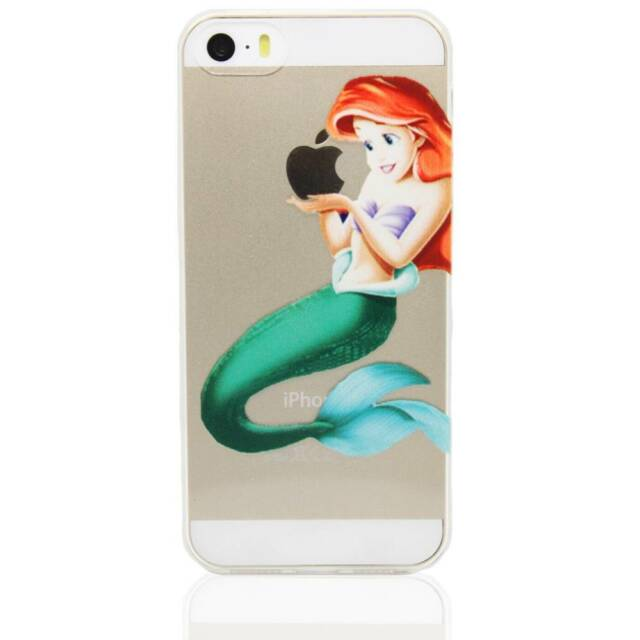 Disney Princess Ultra Thin Transparent Soft Rubber Case For iPhone 5/5S/6/6 Plus