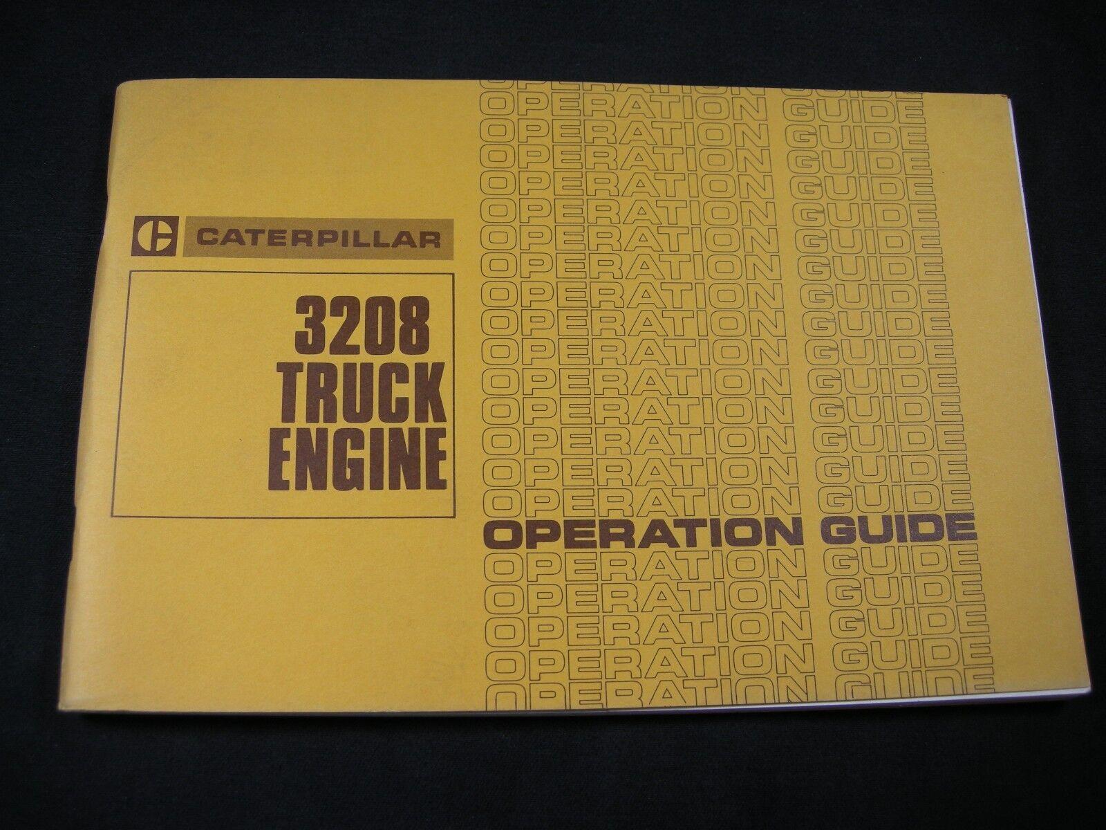 CAT Caterpillar 3208 Operation Maintenance Manual Diesel Truck Engine Guide  Book | eBay