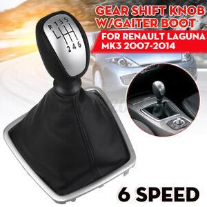 6 Speed Gear Stick Shift Knob Gaiter Boot For Renault For Laguna Mk3 2007-2014