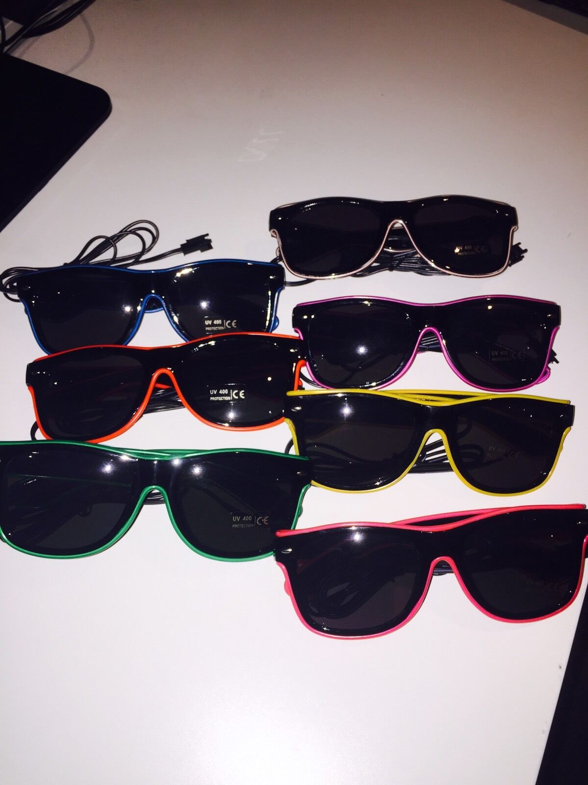 In 9 Colours! Funky Flashing LED Neon Sunglasses