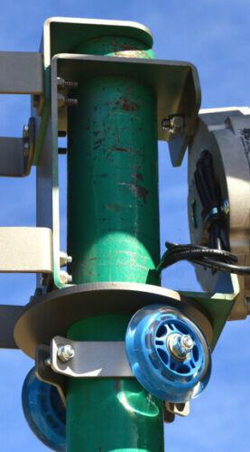 "DUAL CORE 7 Blade 2000W 48 VAC 3-wire 7.4 kWh KT7 Roller Wind Turbine 2.5/""//MT"