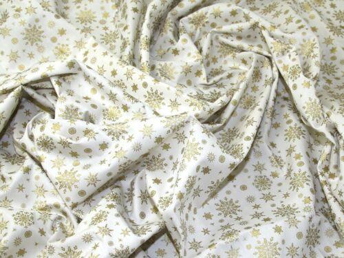 Impresión De Copos De Nieve Navidad Metálico Vestido de algodón tejido EM-4131 - Gold-M