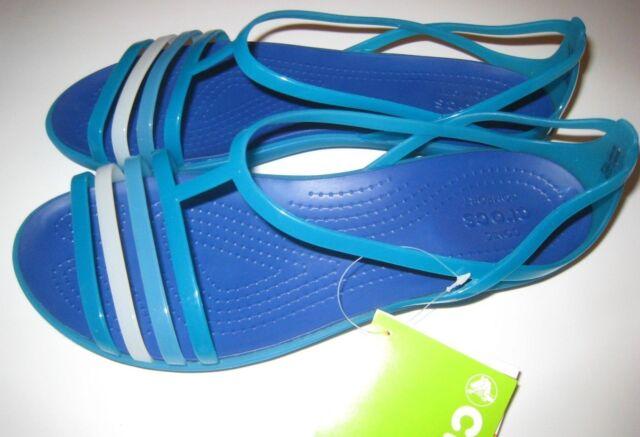 36ea3ddebe4d Crocs 202465 Isabella Sandal Womens Turquoise cerulean Blue-4p1 11 ...
