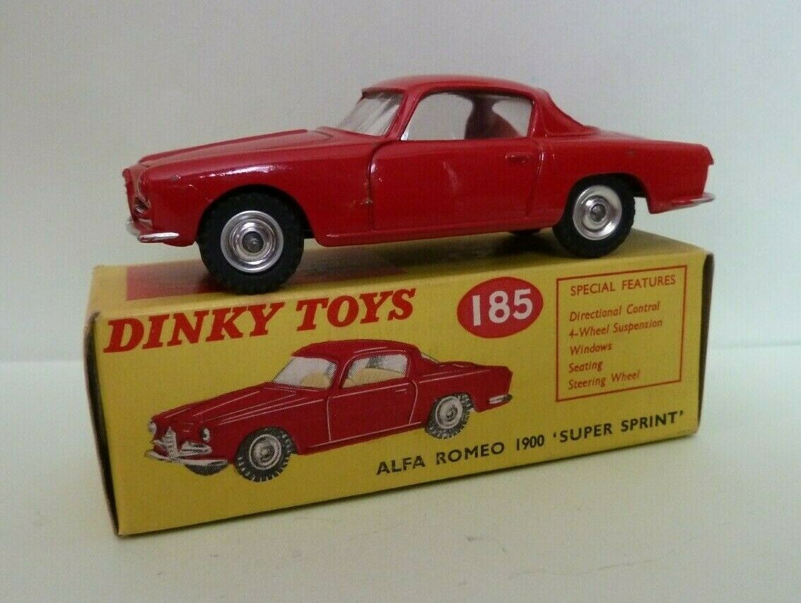 DINKY TOYS Nº 185 ALFA ROMEO 1900 SUPER SPRINT SCATOLA ORIGINALE 1961 - 63 OTTIMO