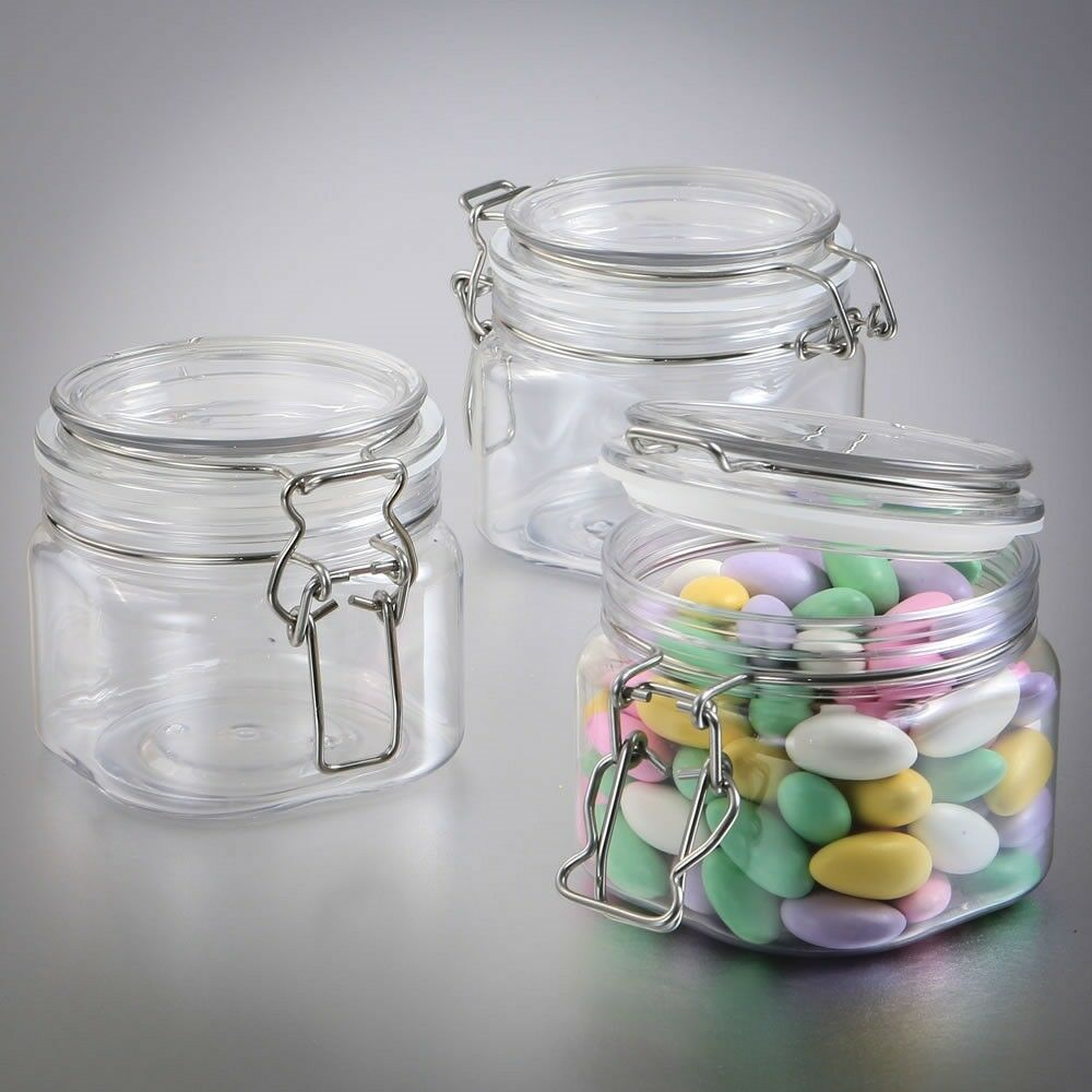 80 Large Acrylic Candy Box Jars Wedding Bridal Baby Shower Birthday Party Favors