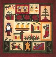 "~ NEW CHRISTMAS SAMPLER QUILT PATTERN ~ APPLIQUE BLOCK OF THE MONTH ~ 35""x36"" ~"