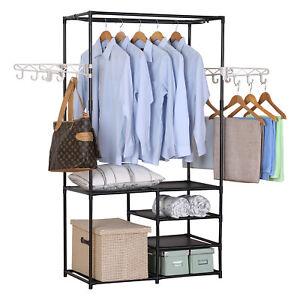 Details zu Kleiderständer Kleiderstange Garderobenständer Wäscheständer mit  Ablage SR0028