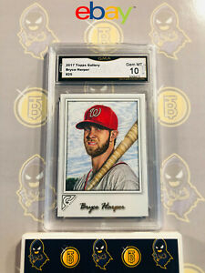 2017-Topps-Gallery-Bryce-Harper-25-10-GEM-MINT-GMA-Graded-Baseball-Card