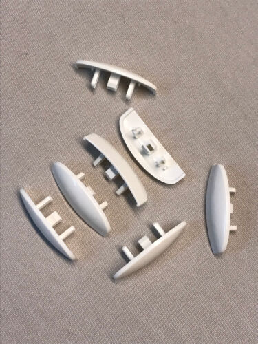 Wasserschlitzkappen Silisto Oval 30 Stk weiß für PVC-Fenster Fabr Schüco uvm.