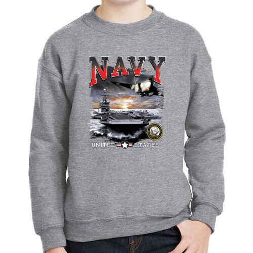 USN Naval Aircraft Theme Kids Sweatshirt US Navy Forces Long Sleeve 2000C