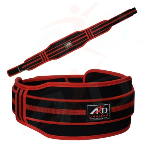"""ARDCHAMPS™Neoprene Weight Lifting Back Support Gym Training Belt 5/"""" Wide Red M"""
