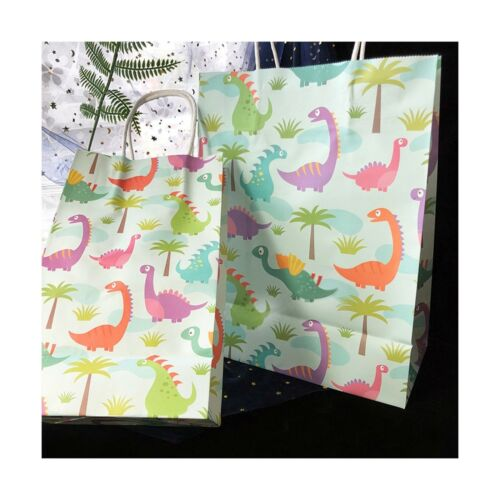 10 Pack Dinosaur Party Bags Dinosaur Party Supplies Gift Bags For boys and gi...