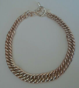 Vintage-Ralph-Lauren-Chunky-Chain-Necklace-Gold-Tone-Fade-Toggle-Closure-J