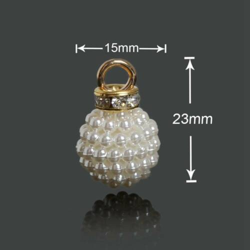 10pcs Varisized Gold ABS Imitation Perle Pendentif Boucle D/'Oreille Jewelry Making Findings