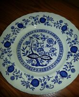 "ENOCH WEDGWOOD BLUE HERITAGE-BLUE ONION 10"" DINNER PLATE"