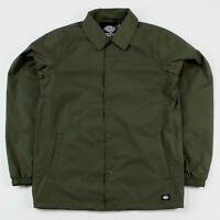 Dickies Streetwear Men's Torrance Lightweight Windbreaker Jacket Dark Olive