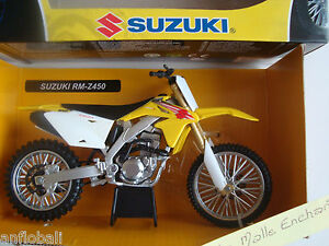 MOTO-MINIATURE-SUZUKICROSS-RM-Z-450-1-12-NEUVE-EN-BOITE-NEW-RAY
